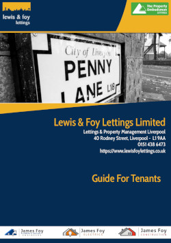 Our Guide For Tenants in Liverpoool